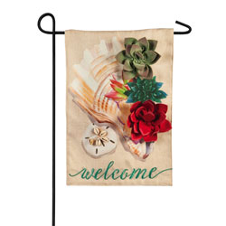 Conch Shell and Succulents Garden Banner, EE14B9184G