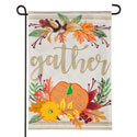 Autumn Gather Burlap Garden Flag, EE14B9326G