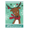 Naughty or Nice Greeting Card and Garden Banner, EE14GC015