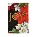 Joy Poinsettias Greeting Card and Garden Banner, EE14GC2534