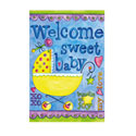 Welcome Sweet Baby Greeting Card and Garden Banner, EE14GC2538