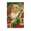 Merry Father Christmas Greeting Card and Garden Banner, EE14GC2548