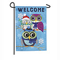 Winter Owls Linen Garden Flag, EE14L8728G