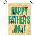 Happy Fathers Day Suede Garden Banner, EE14S3606G