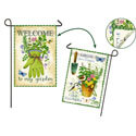 Herb Garden Two Sided Garden Banner, EE14S4136FBG