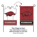 Razorbacks Home and Away Jersey Suede Garden Banner, EE14S911BLJG