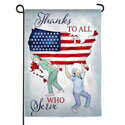 Thanks to All Who Serve Suede Garden Banner, EE14S9799G