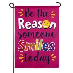Be the Reason Someone Smiles Suede Garden Banner, EE14S9802G