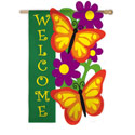 Butterfly Garden Welcome Banner, EE151352