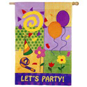Patchwork Let's Party Banner