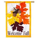 Autumn Leaves Applique House Banner, EE158564BL