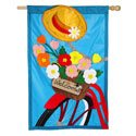 Bicycle Basket Applique House Banner, EE158605BL
