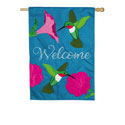 Hummingbirds and Petunias House Flag, EE159022BLH