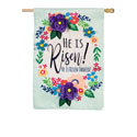 He Is Risen Floral House Flag, EE159030H