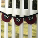 Tea Stained Patriotic Flag Garland, EE15P025