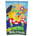 Hello Friends Scarecrow Banner, EE15328
