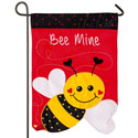 Bee Mine Applique Garden Banner, EE168487BLG
