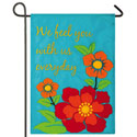 With Us Everyday Applique Garden Banner, EE168539G