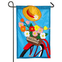 Bicycle Basket Applique Garden Banner, EE168605BLG