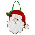 Embroidered Santa Door Hanger, EE2DHB1382