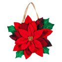 Poinsettia Door Hanger, EE2DHBE1329