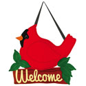 Cardinal Welcome Door Hanger, EE2DHF1024