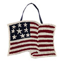 American Flag Hook and Loop Door Hanger, EE2DHP1590