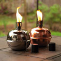 Copper and Nickel Patio Torches, EE2LA053