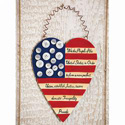 Americana Heart of Freedom Wall Art, EE48780
