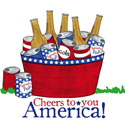 Cheers to You America! Cocktail Napkins, EE4NC4453