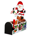 Santa Visiting Magnetic Mailbox Cover. EE56559