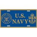 U.S. Navy License Plate, EEILP0523