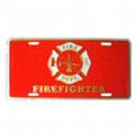 Firefighter License Plate, EEILP0620