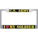 U.S. Army I Love My Soldier License Plate Frame, EEILP3801