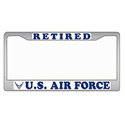 Retired US Air Force License Plate Frame, EEILP3919