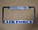 US Air Force License Plate Frame, EEILP3920
