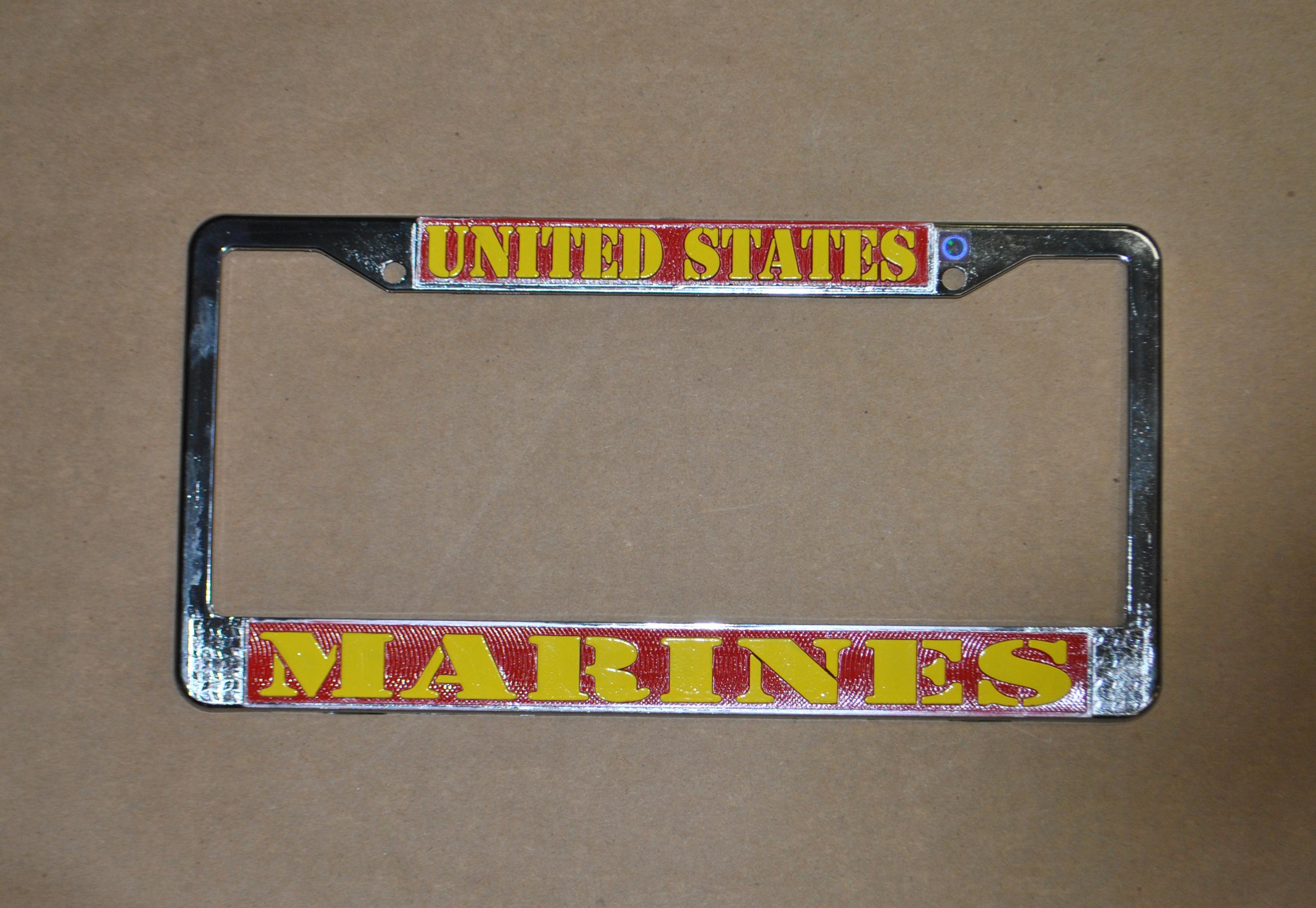 Us Marines License Plate Frame Flagandbanner Com