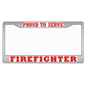Firefighter License Plate Frame, EEILP3937