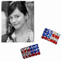 American Flag Post Earrings