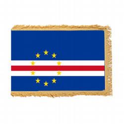 Cape Verde Fringed Flag with Pole Hem, FBPP0000009863