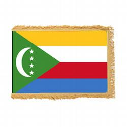 The Union of the Comoros Fringed Flag with Pole Hem, FBPP0000012560