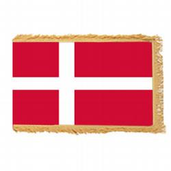 Denmark Fringed Flag with Pole Hem, FBPP0000010209