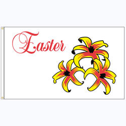 Easter Lillies Flag, FEASTERLIL35