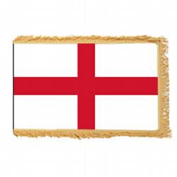 St. George Cross of England Fringed Flag with pole hem, FENGL46PHF