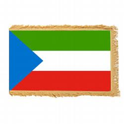 Republic of Equatorial Guinea Fringed Flag with pole hem, FBPP0000011776