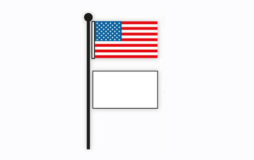 American usa flag etiquette flagandbanner displaying a us flag with a state or company flag sciox Choice Image