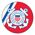 U.S. Coast Guard Round Mat, FM9551