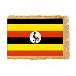 Uganda Fringed Flag with Pole Hem, FBPP0000012686