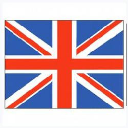 United Kingdom Flag with Pole Hem, FUK46PH