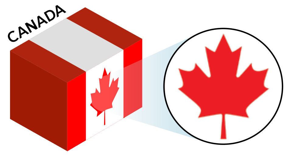Canada Flag colors and symbol